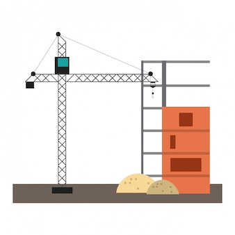Tour de grue de construction