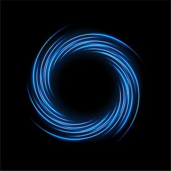 Tour de lumière bleue torsadée