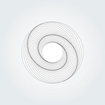 Tourbillon abstrait moderne