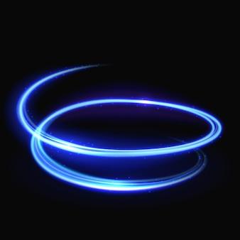 Tourbillon de lumière vecteur bleu