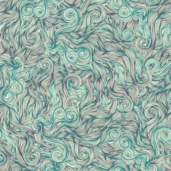 Tourbillons de ligne turquoise