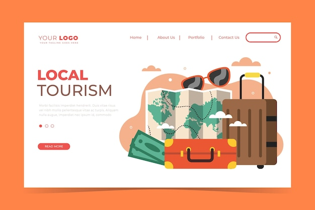 Tourisme local - page de destination