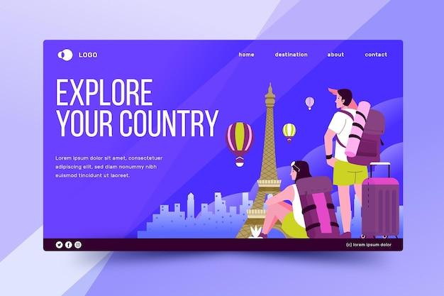 Tourisme local - page de destination