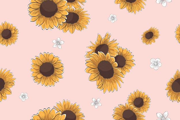 Tournesol seamless pattern
