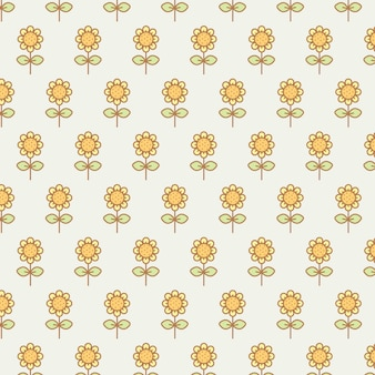 Tournesols kawaii mignon transparente motif transparent