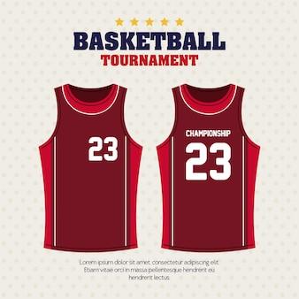 Tournoi de basket-ball, emblème, conception de basket-ball, chemises vêtements de sport