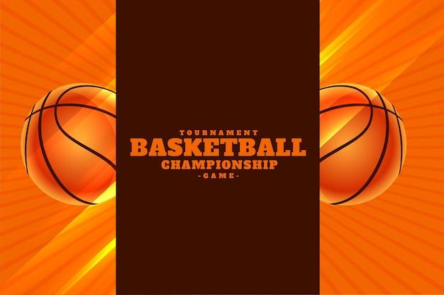 Tournoi de championnat de basket-ball réaliste