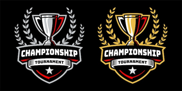 Tournoi de championnat avec conception d'insigne de trophée