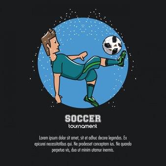 Tournoi de football infographique