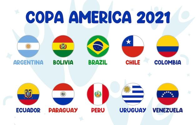 Tournoi de football par équipe de la phase finale de la copa america 2021 en amérique du sud tournoi de football sud-américain en argentine et en colombie