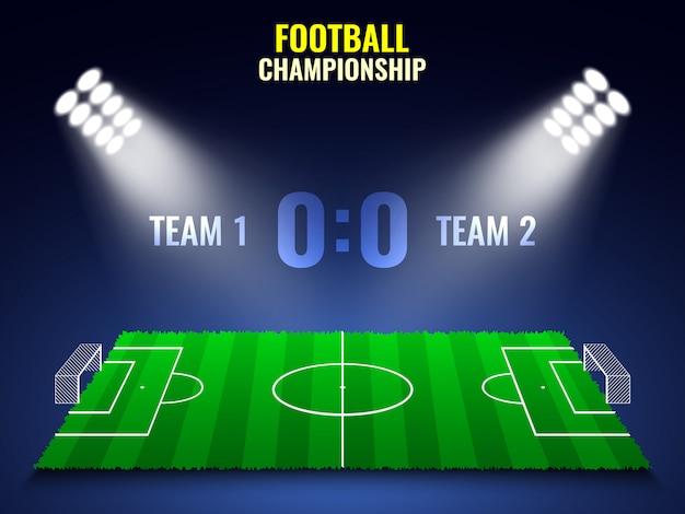 Tournoi de football. stade.