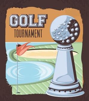 Tournoi de golf trophée d'argent