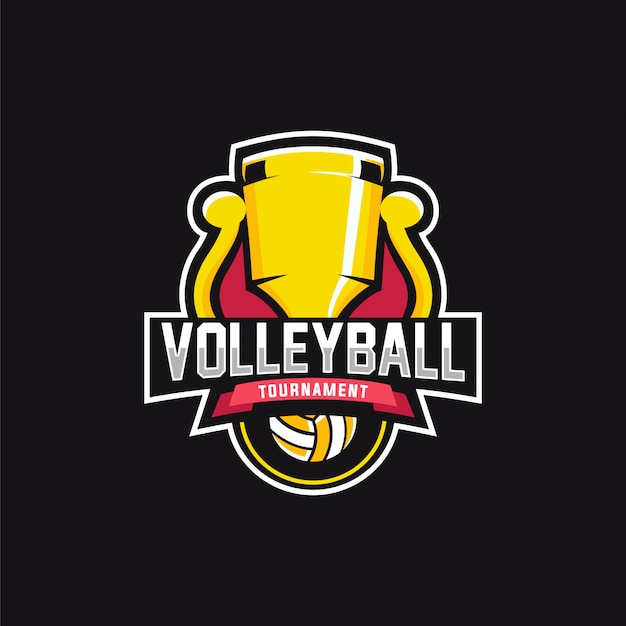 Tournoi logo volleyball