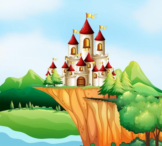 Tours du château sur la falaise