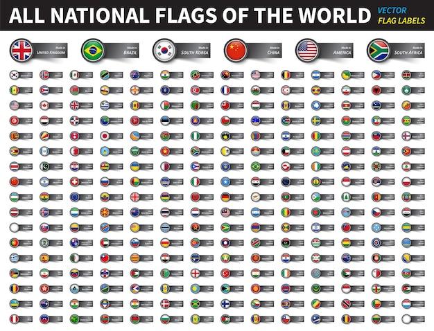 Tous les drapeaux nationaux du monde