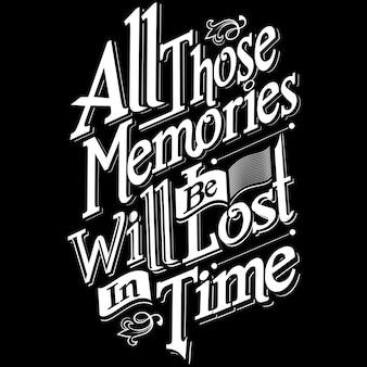 Tous ces souvenirs