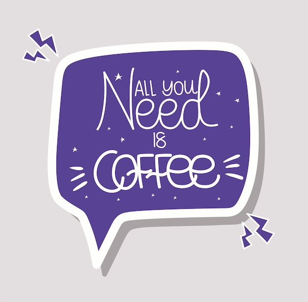 Tout ce dont vous avez besoin est un lettrage de café