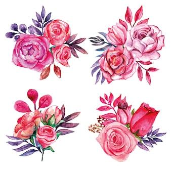 Tout sur l'ensemble de bouquets rosés