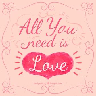 Tout ce que vous avez besoin est amour devis