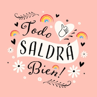 Tout sera ok lettrage en espagnol