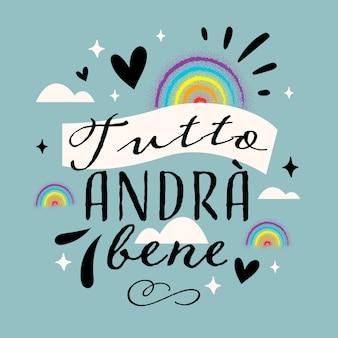 Tout sera ok lettrage en italien
