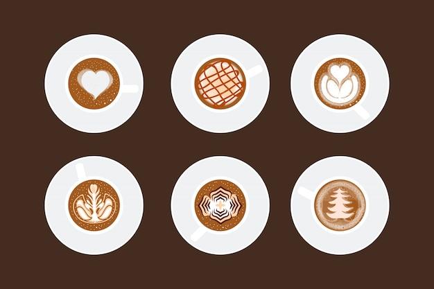Toute tasse d'art café au lait