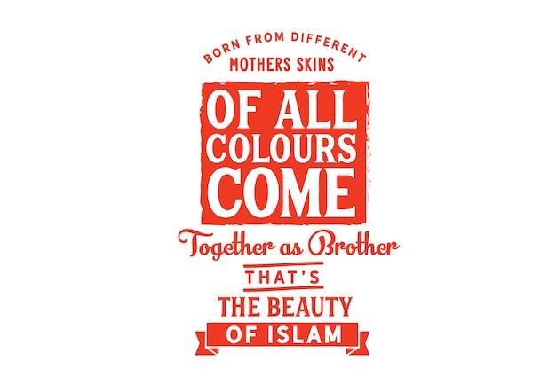 Toutes les couleurs sont réunies en tant que frères