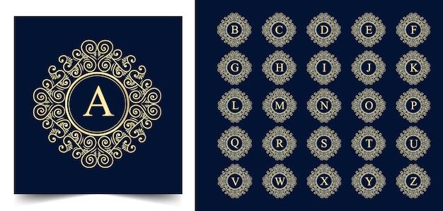 Toutes les lettres initiales dessinées à la main beauté féminine et logo botanique floral adapté à la boutique de beauté des cheveux et aux cosmétiques