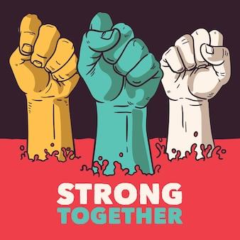Toutes les vies comptent, nous sommes forts ensemble