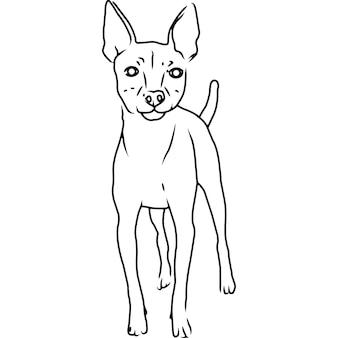 Toy fox terrier main esquissée clipart vectoriel dessinés à la main