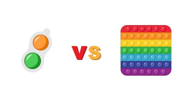 Toy pop it vs simple fossette.