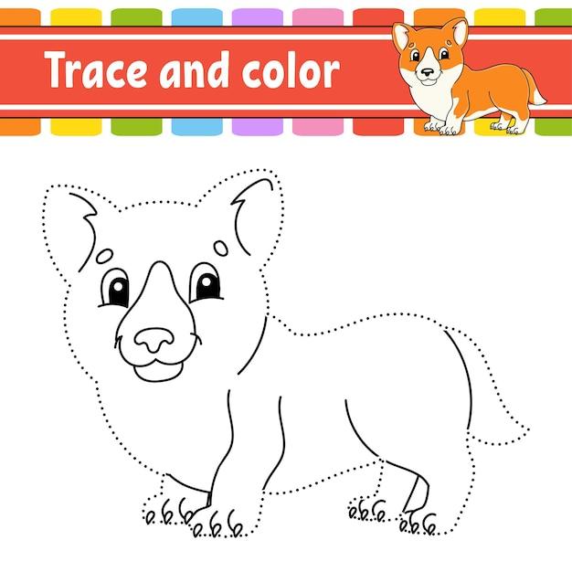 Trace et coloriage de couleur pour les enfants