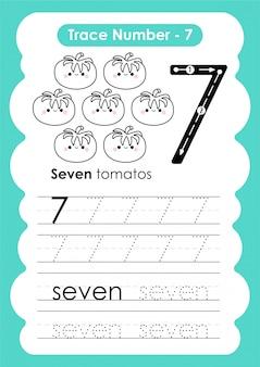 Trace numéro sept - pour les enfants de la maternelle et du préscolaire