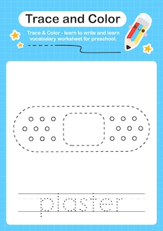Trace de plâtre et trace de feuille de calcul préscolaire en couleur pour les enfants pour la pratique de la motricité fine