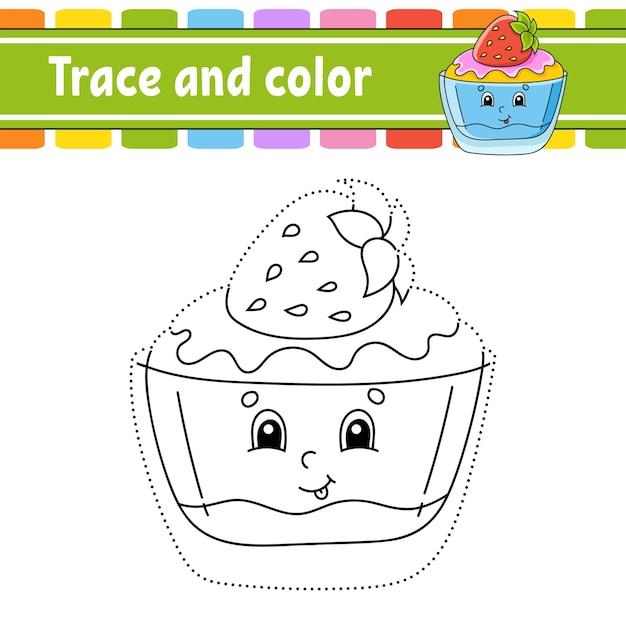 Tracer et colorier le thème anniversaire
