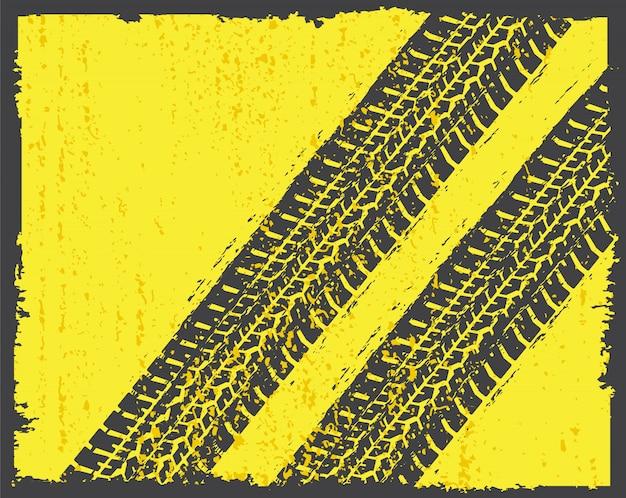 Traces de pneus dans le style grunge
