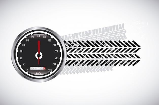 Traces de pneus sur illustration vectorielle fond beige