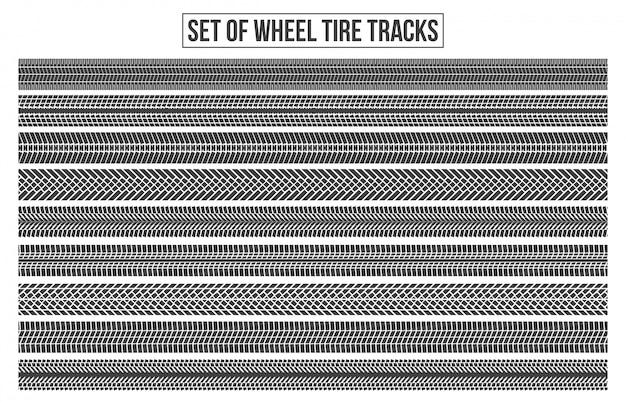 Traces de pneus de roue. trace sinueuse.