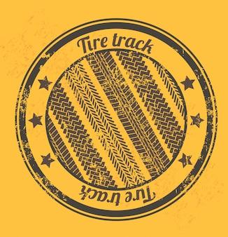 Traces de pneus