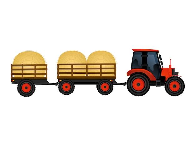 Tracteur avec du foin