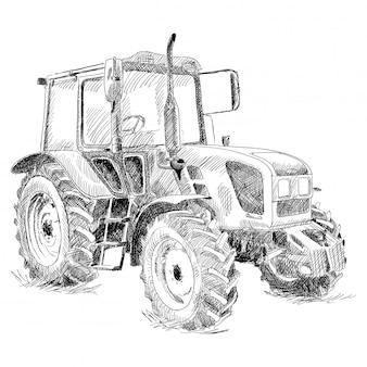 Tracteur sur grandes roues.