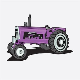 Tracteur d'illustration vectorielle avec des détails