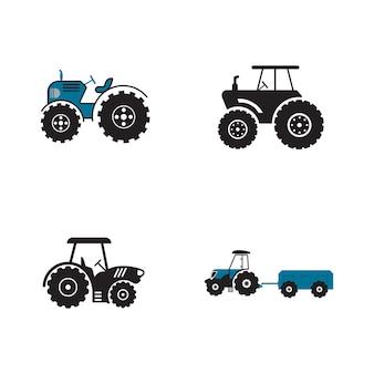Tracteur vector icon design illustration modèle