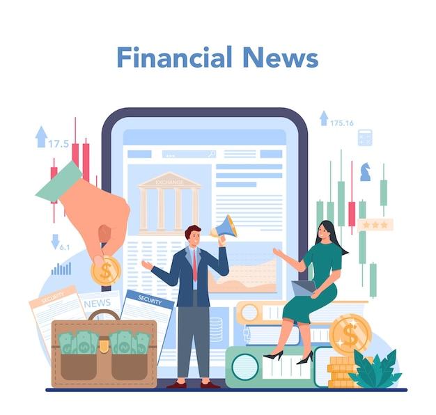 Trader, service ou plateforme en ligne d'investissement financier.