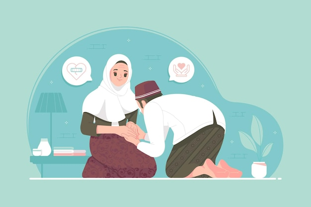La tradition de l'aïd mubarak pardonne