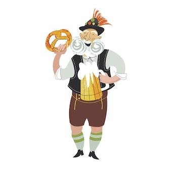 La traditionnelle fête de la bière oktoberfest une fille en costume national boit de la bière
