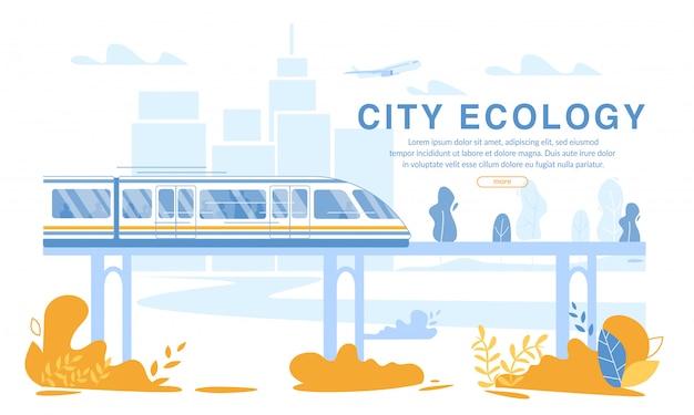 Train électrique à grande vitesse sur tapis magnétique eco transport