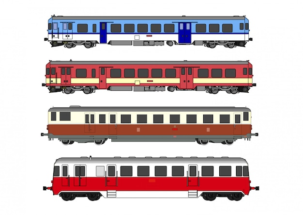 Train à grande vitesse de vecteur et train à vapeur