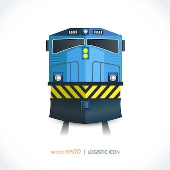 Train de l'icône logistique