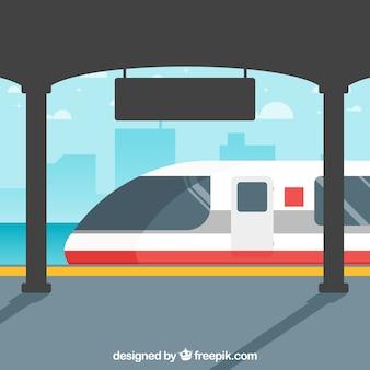 Train scène à la gare